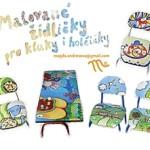 malované židličky